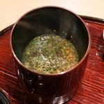 東麻布 天本 - 山椒入り味噌汁