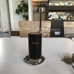 モン ボン カフェ - ランチセット、アイスコーヒーです。