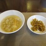 72871154 - スープとザーサイ