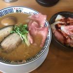 72871541 - ☆★特製たまり醤油の極み煮干しそば(^。^)ドリームレアチャーシュー丼★☆
