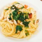 レストラン マルヤマ - パスタ 瀬戸内産真鯛のガーリックオイル