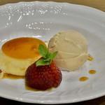 ら・ぶーか - プリン 紅茶のアイス  イチゴ