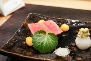 おにく 花柳 - シャトーブリアンのステーキ、銀杏