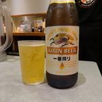 らあめん花月嵐 - 瓶ビール(500円)