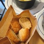 ブラッスリー ロノマトペ - (2017年9月 訪問)パン。小振りですが、とっても美味しい♪お代わりできます。