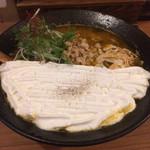 北海道咖喱饂飩 亀 - 北海道カリー饂飩 中辛 麺大盛(¥980)