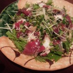 日本酒バル森 - カツオとタコと野菜のサラダ