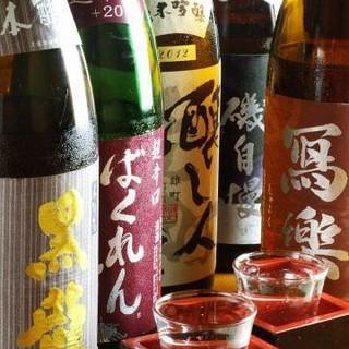 旨い日本酒揃ってます純米酒吟醸酒、本醸造を中心に30種以上!