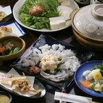 ふく千 - 淡路・徳島天然釣り活けはものコース (6月~9月末頃)