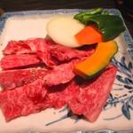 くろげ - 黒毛和牛カルビ定食 1980円