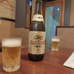 天府 - 「瓶ビール 中」550円