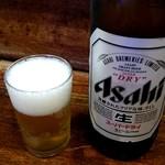 亀戸餃子 - ビール大:550円