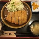 ブタとエスプレッソと - 四元豚ロースカツ定食  1000円(ご飯お代わり自由)