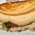 ラ・メール・プラール - キノコのクリームリゾットとフォアグラののオムレツ