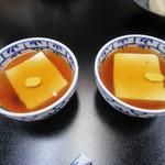 笹乃雪 - 「あんかけ豆富」は一人前2個で出されるのが定法