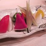 ぬる燗佐藤 横濱茶寮 - 「彩り野菜の浅漬け」