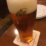 ビヤホール ライオン - 琥珀エビス小グラス690円+税