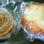 7291578 - 購入したパン2種(開封前)