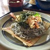 食事処 こだち - 料理写真:【黒ゴマ麺(冷) 大海老付/800円】別アングルから
