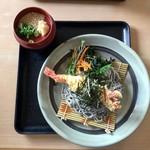 72915974 - 黒ゴマ麺(冷) 大海老付/800円