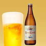 東京発祥豚骨ラーメン 哲麺縁 - キリン 一番搾り 秋味 中瓶