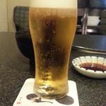 六歌仙 - ランチのグラスビール300円は黒ラベル