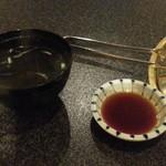 六歌仙 - タレとスープが先に
