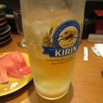回転さかなや鮨・魚忠 則武本通り店 - チューハイ 本搾りレモン 400円 (2017.7)