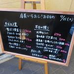 回転さかなや鮨・魚忠 則武本通り店 - 本日のおススメ