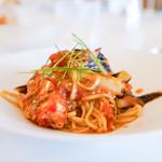 アロマフレスカ - 花咲蟹とトマトのパスタ
