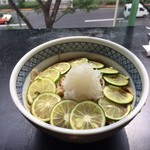 鎌倉 松原庵 欅 - すだち蕎麦