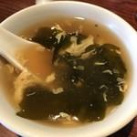 無名軒 - 【2017.8.30】玉子スープ。