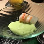 第三春美鮨 - 枝豆すり流しと車海老と冬瓜