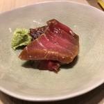 第三春美鮨 - お盆のの高知の視察の時にリクエストした鮪のサク漬け
