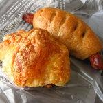 クゥーパン - ハムチーズクロワッサン ソーセージパン
