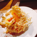 NO MEAT, NO LIFE.2nd - 大人のポテトサラダ(割ったところ)