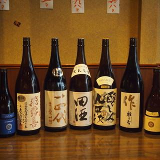 焼酎・日本酒の種類充実