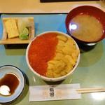 鮨國 - うにいくら丼(3400円)