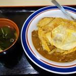 名代 富士そば - カレーかつ丼(570円)