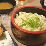 名古屋コーチン×個室居酒屋 鶏茂 - うどん?一人前か?(この量で三人前)