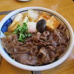 中洲ちんや - すき焼き丼1260円