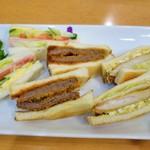 グルメ - トリオサンドイッチ(1436円)