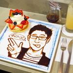 cica - たっぷり苺のアートパンケーキ リクエストアート