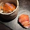 京橋もと  - 料理写真:鰤握り/鯵と茸の御浸し