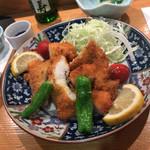 寿司 料理 まるも - 鱧フライ(天ぷらよりフライを勧められた)