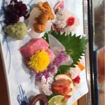 寿司 料理 まるも - お刺身盛り合わせ