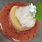 イタリアンレストラン Zucca - 夏                桃のコンポート プラムのスープ