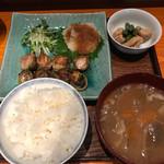 壌 - 豚汁セット+三重県産松坂ポーク使用バラ肉の渦巻き800円