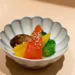 六本木 すし巽 - 2017.9 夏野菜のマリネ