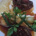 パノラミックレストラン ル・ノルマンディ - フィレとカイノミの2種の牛ステーキ